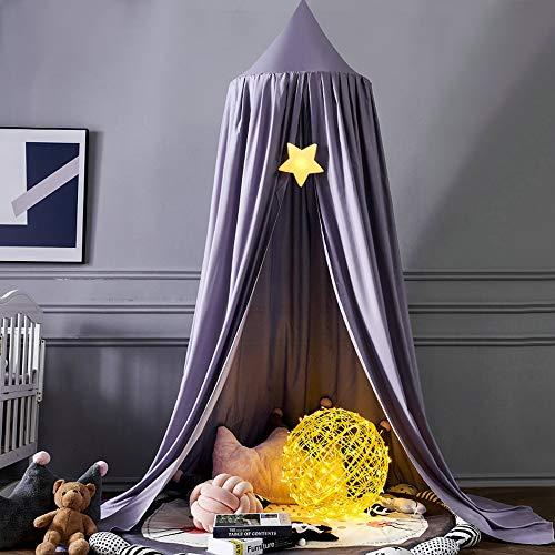 Säng kapell för barn, sänghimmel barn spädbarn säng myggnät, baby inomhus utomhus spel läsning tält, säng & sovrumsdekoration (B/7,ø 65 cm)
