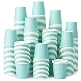 [360 Pack] 3 oz Paper Cups, Sky Blue Mouthwash Cups, Disposable Bathroom Cups, Espresso Cups, Paper Cups for Party, Picnic, BBQ, Travel, and Event