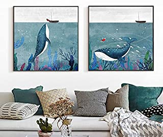 Paintsh  Nordic Modern Decorative Painting Living Room Sofa Backdrop Wall Painting Restaurant Hotel Bedroom Murals, 70 * 7...