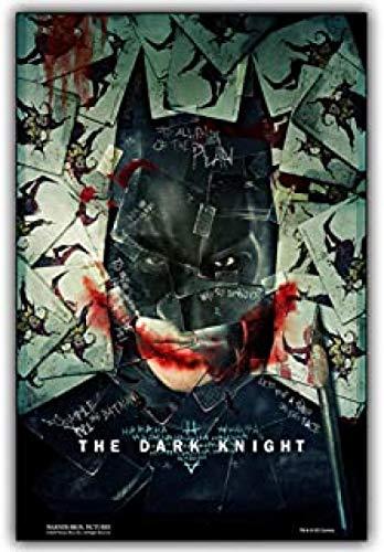BOIPEEI Movie Jigsaw Puzzle Puzzles, Puzzles de Madera Intellectual 1000 Piezas Jigsaw Toys, Puzzle para Adultos Niños Imagen/Dark Knight Joker Xk147