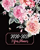 2 Year Planner 2020-2021: Rose Flowers, January 2020 to December 2021 Monthly Calendar Agenda Schedule Organizer (24 Months) With Holidays and inspirational Quotes