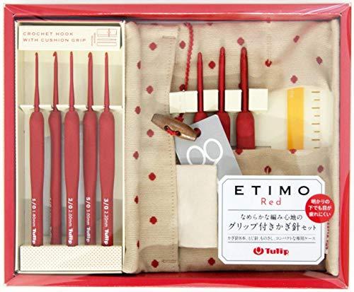 Tulip Etimo Rosso Uncinetto Gancio con Cuscino Grip Set (TED-001e)