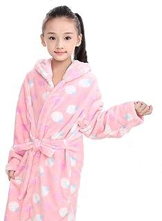 456263ef5 XZ Albornoces para niño Batas y Kimonos niña Bebé Bata Baño con Capucha  Coral Fleece Toallas
