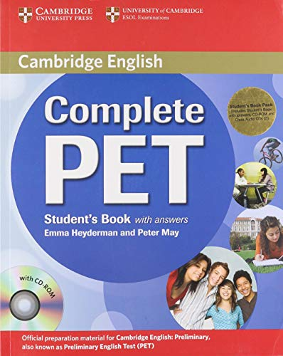 Complete PET Student's Book Pack (Student's Book with answers with CD-ROM and Audio CDs (2)) [Lingua inglese]