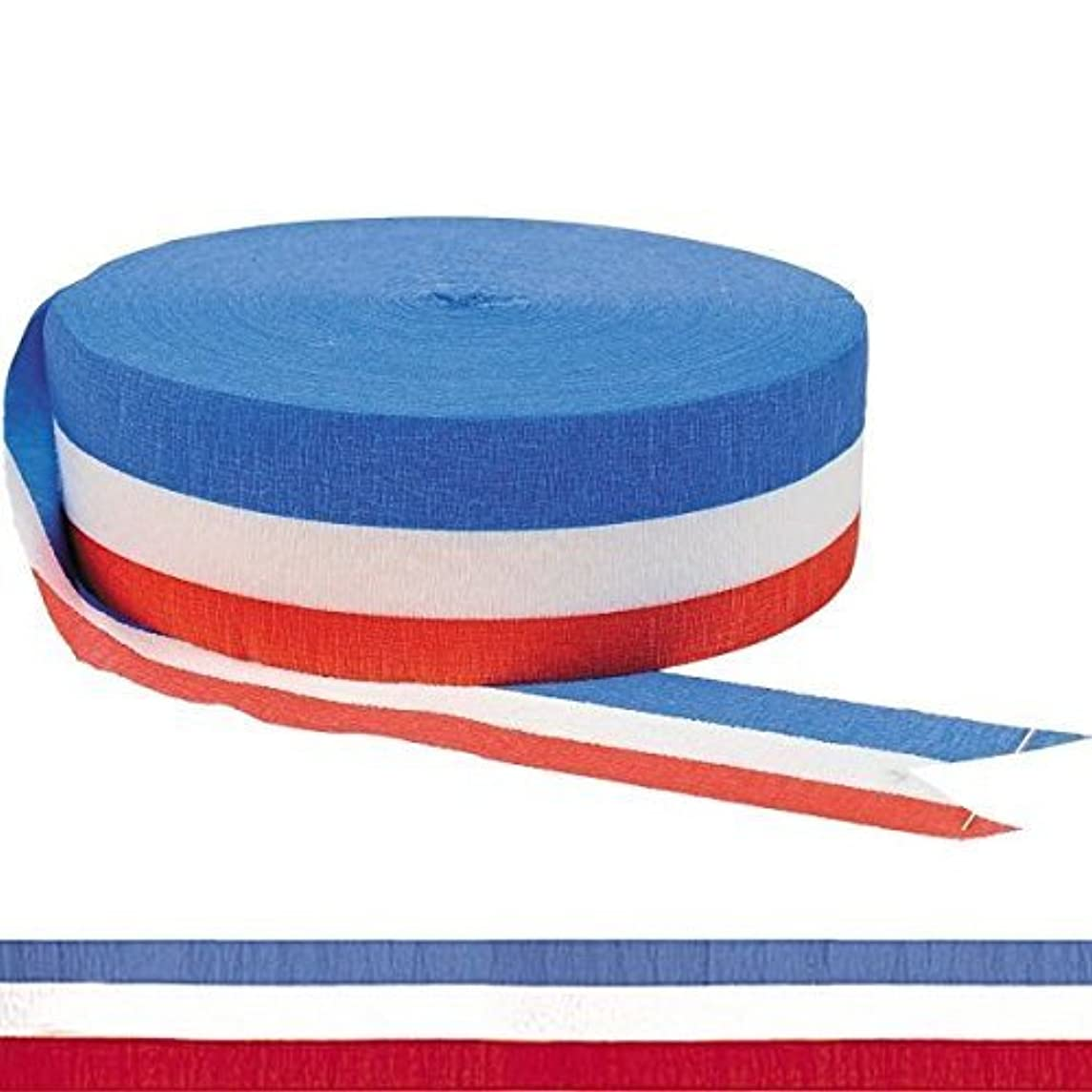 500 Ft X 1 7/8 In. Red White Blue Patriotic Crepe Paper Streamers (2-Pack)