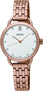 Seiko Women SUR698P Year-Round Analog Quartz Rose Gold Watch