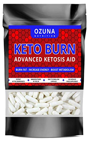 Keto Burn Advanced Ketosis Aid Weight Loss Diet Pills Fat Burner Supplement...