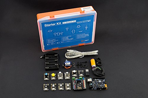 Starter Kit for Genuino / Arduino 101 with Tutorials,The kit comes with 13 most popular sensors,includes a Genuino 101 (Arduino 101 in USA) board,Fully compatible with Arduino microcontrollers