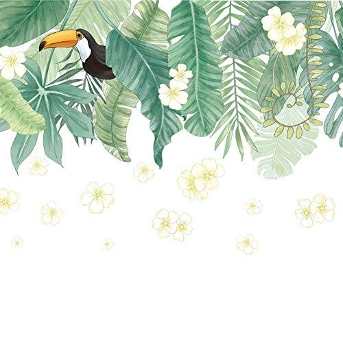Pegatinas de pared de hoja de plátano para sala de estar Dormitorio Habitación de niños Vivero TV Sofá Decoración de pared Murales de arte Calcomanías de plantas de vinilo extraíbles