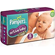 Pampers Active Baby Diapers, Small (46 Count)