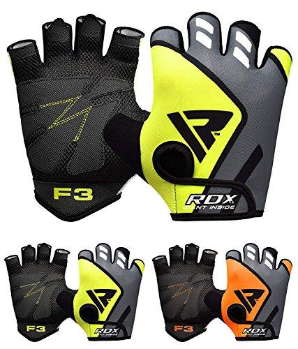 guanti allenamento RDX Guanti Palestra Sollevamento Pesi Uomo Fitness Bodybuilding Esercizio Allenamento Pesistica Polso