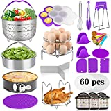 Aiduy 23 Pieces Accessories for Instant Pot 6,8 Qt, Pressure Cooker Accessories Set - 2 Steamer...
