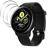 AFUNTA1 cinturino in silicone e 3 pellicole proteggi schermo compatibili con Samsung Galaxy Watch Active, cinturino di ricambio in morbido silicone da 20 mm e pellicola salvaschermo in TPU