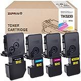 4 cartuchos de tóner Ziprint compatibles con impresora Kyocera TK-5230, para Kyocera Ecosys P5021cdn, P5021cdw, Ecosys M5521cdn y M5521cdw