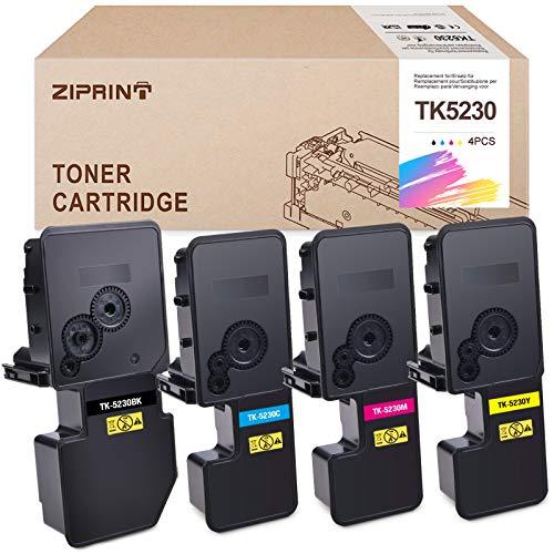 Juego de 4 Cartuchos de tóner Kyocera TK-5230 compatibles con Kyocera ECOSYS P5021cdn,P5021cdw; ECOSYS M5521cdn,M5521cdw