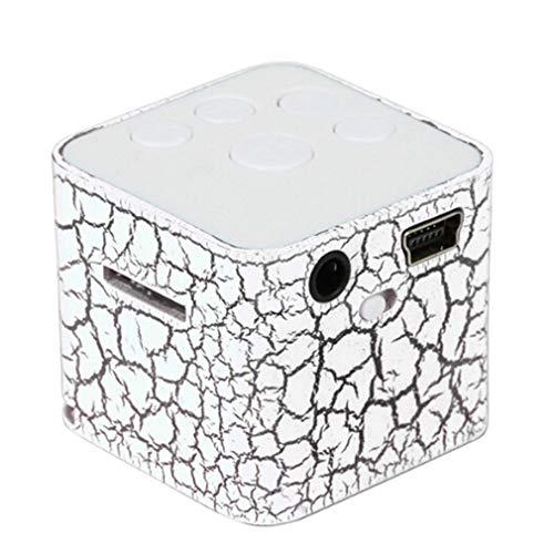 Mini-Lautsprecher, kabellos, tragbar, LED-Licht, TF Stereo, MP3, Bass, Musik, TF-Karten, USB-Ladekabel, 7 Farben, Wasserwürfel