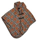 Love Lakeside-Classic Style Cape, Wrap, Shawl, Poncho, Coat Houndstooth, Fashion 01-Black & Tan