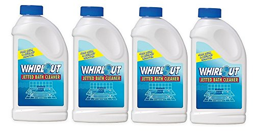 Whirlout WO06N Jetted Bath Cleaner 22oz (1.375 lbs.) Self Cleaning Action Formulated to Clean Hot Tubs, Spas, Whirlpools & Jetted Bathtubs (4 Packs of 22oz)