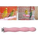 Pssopp Percas para pájaros con superficie rugosa para pájaros y percas para jaulas de pájaros, para periquitos, cacatúas, guacamayos, gris africano (grande)