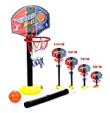 OurKosmos réglable Enfants Enfants junior Basketball Hoop And Ball stand Pump Backboard Set Indoor...