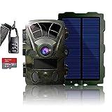 【2021最新型 業界最高4K 高画質 太陽光で永続動作】 256GB microSDカード & ソーラーパネル付属 防犯カメラ トレイルカメラ 屋外 防水 防塵 IP66対応 2160p 1080p対応 赤外線LED 監視カメラ 動体 検知 人感センサー 夜間対応 電池式 自動上書き録画 (DVR-Z3-SP-256-C)