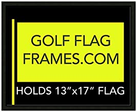 Golf Flag Frames 16x20 Black, Moulding blk-001, Reversible Green-Black Mat (holds 13x17 Masters Golf Flags; flag Not Incl)