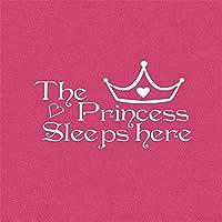 ウォールステッカーデカール 王女はここで子供部屋の家の寝室のために眠ります 壁画家の装飾