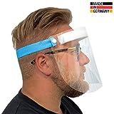 Urhome Hard 1 x Visier Gesichtsschutz aus Kunststoff | Face Shield in Blau | Universales...