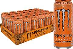 FULL FLAVOR, ZERO SUGAR: Monster Energy Zero Ultra 10.5 Oz contains zero sugar and only 5 calories, but with all the flavor you're accustomed to and packed with our sugar-free Monster Energy blend. REFRESHING TASTE: Zero Ultra's lighter tasting flavo...