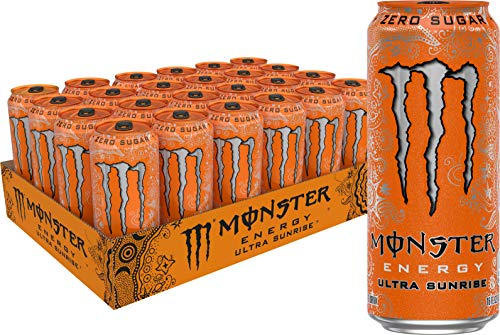 Monster Energy Ultra Sunrise, Sugar Free Energy Drink, 16 Ounce (Pack of 24)