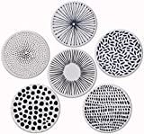 Best Absorbent Coasters - Pandoza Absorbent Coasters for Drinks - Grey Lines Review