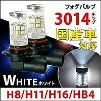 LEDフォグランプ H8 H11 H16 HB4 CREE 48W ホワイト取付簡単 360°無死角発光 2個セット H8/H11/H16