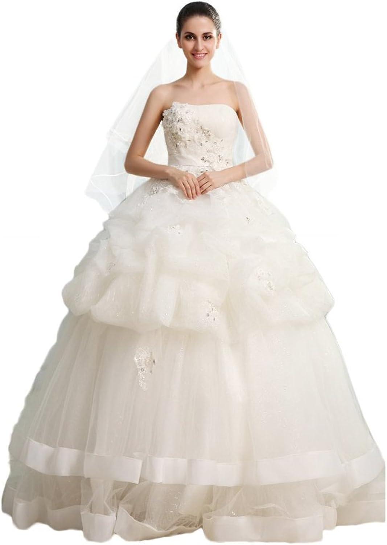 Dearta Women's Ball Gown Strapless Sleeveless FloorLength Wedding Dresses