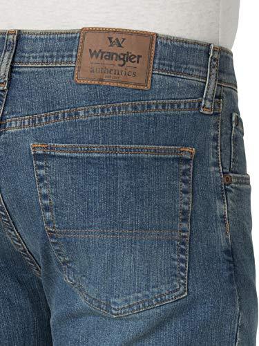 Wrangler Authentics Men's Big & Tall Regular Fit Comfort Flex Waist Jean, Slate, 52W x 32L