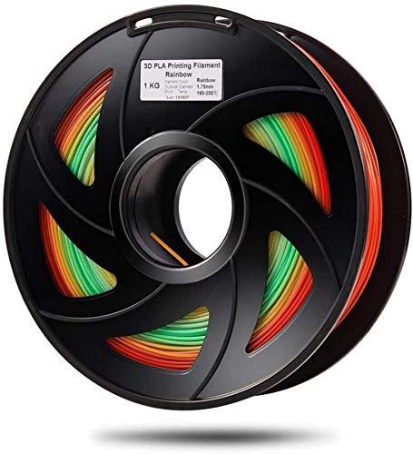 Wghz PLA Couleur Changeante Arc-en-Ciel 3D matériel d'impression Multicolore imprimante 3D Filament 1.75mm 1 kg Bobine Couleur Livraison aléatoire