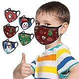 Jingobel 5 Stück Kinder Mundschutz Multifunktionstuch Planet Motiv Maske Halloween Weihnachten...