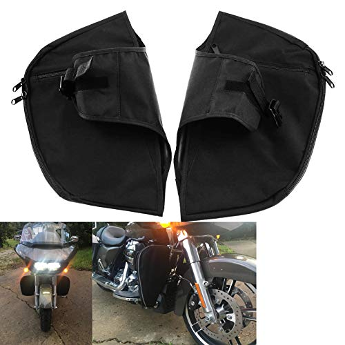 Rebacker Soft Lowers Chaps Engine Guard Cover Leg Warmer Fit for 1980-2020 Harley Touring and Trike models Road King Street Glide