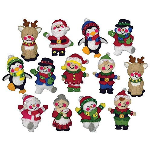 Design Works Crafts, Applicazioni Decorative in Feltro, Amici di Natale