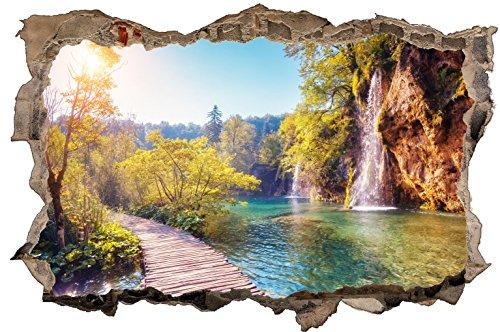 DesFoli Natur Landschaft 3D Look Wandtattoo 70 x 115 cm Wanddurchbruch Wandbild Sticker Aufkleber D360
