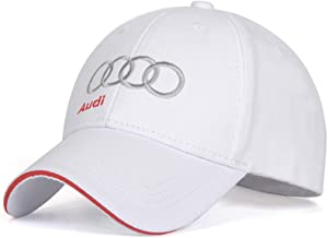Logo Embroidered White Color Adjustable Baseball Caps for Men and Women Hat Travel Cap Racing Motor Hat fit Audi Accessory