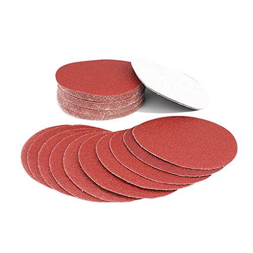 KFZR Set di 60 dischi abrasivi auto-adesivi in grana 40/60/80/100/120/150/180/240/320/400/600/800, diametro 125 mm