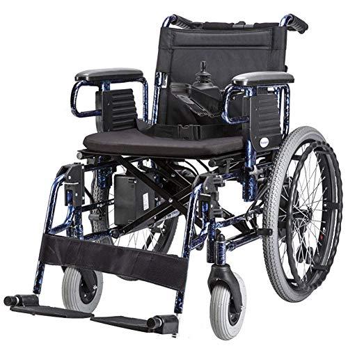 AFDK Silla de ruedas eléctrica de servicio pesado, silla de ruedas motorizada Plegable 600W Ancho del asiento del motor 45Cm Palanca de mando de 360 ° Adaptarse a una variedad de pavimentos