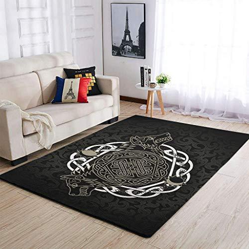 Alfombras suaves Viking Crow para interior y exterior, modernas, para niñas y niños, color blanco, 50 x 80 cm