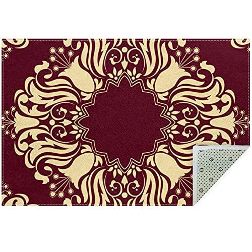 nakw88 Alfombrillas grandes de área redonda impresas para sala de estar, dormitorio, alfombra gruesa, 160 cm, estilo árabe, patrón árabe 6
