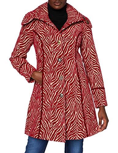 Joe Browns Damen Jacquard Zebra Coat Mantel, rot/cremeweiß, 38