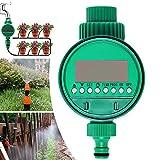 RSGK - Temporizador de riego automático de jardín, programable, set de accesorios para un sistema de riego inteligente automático para riego por goteo en invernadero