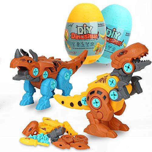 Take Apart Dinosaur Toys, 2 Pack Dino Building Toy Set with Tools, DIY...