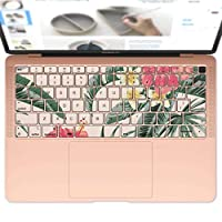igsticker MacBook Air 13inch 2018 専用 キーボード用スキンシール キートップ ステッカー A1932 Apple マックブック エア ノートパソコン アクセサリー 保護 015642 夏 ハイビスカス 植物