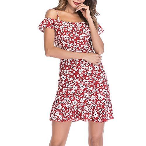 Vestido De Gasa De Cintura Alta con Cuello En V Y Hada Floral De Hadas De Verano De Talla Grande De 2020