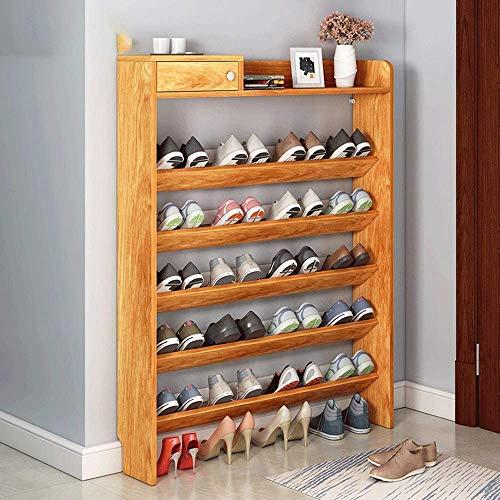 KAYBELE Sencillo y económico Home Zapatero Provincia dormitorios compartidos Zapato gabinete Multifuncional de Varias Capas Conjunto de la Puerta Zapatos Pequeños Estante, Arce Rojo